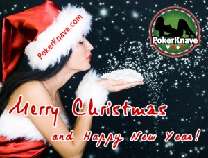 Poker Totty Xmas Card